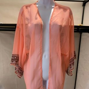 Sheer Kimono/ Beach Cover New Without Tags